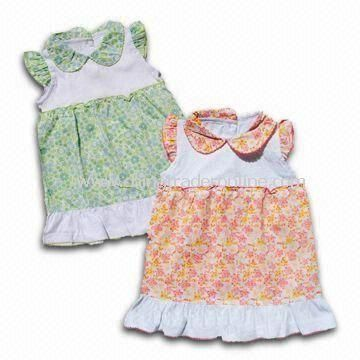 Babies Dresses, Made of Cotton, Sized 0 to 24m from China