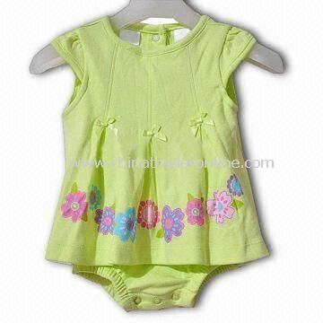 Babies Romper Dress, Customized Logos, Labels, and Designs Available