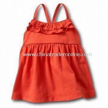 Babies T-shirt/Tees/Top in Orange Color, Made of Cotton Material