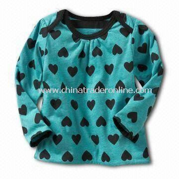 Babies T-shirt/Tees/Top with Heart Design on Front and Back, Available in Various Sizes