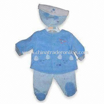 Baby Boy Clothing Set with Elastic on Waist and All Over Print on Pants