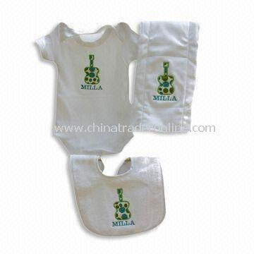 Baby Clothing Set, Available in White Color, Made of Cotton
