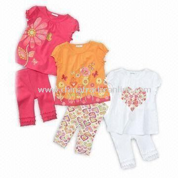 Baby Clothing Set, Customized Materials are Welcome from China