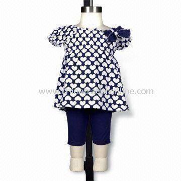 Baby Clothing Set, Ribbon Bow on Left Side Neck