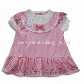 Baby Dress, Made of 100% Cotton, Customized Styles are Accepted, Available in Various Colors