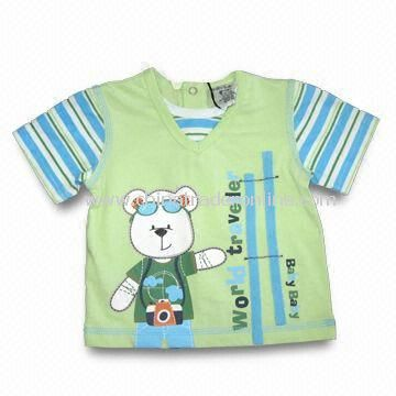 Baby T-shirt, Made of 100% Cotton S/J, Available in Various Sizes, SGS Tested