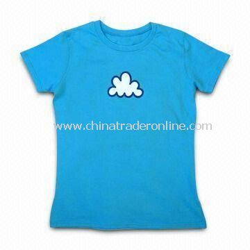 Baby T-shirt, Made of Cotton, with Print and Applique