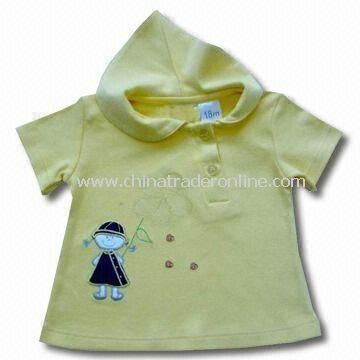 Baby T-shirt with Hood and Short Sleeved from China