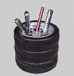 Car tire shape pen holder