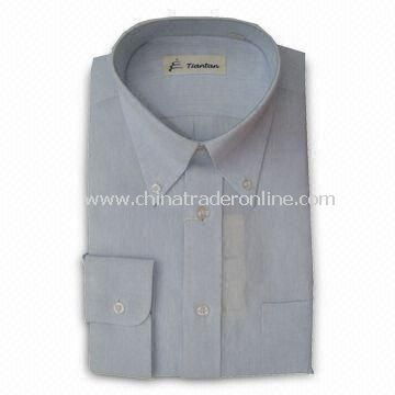 Mens Dress Shirt with Button Down Collar, Made of 100% Cotton