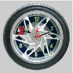 Motorcycle tire wall clock