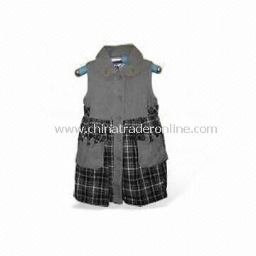 Printed Dress for Infant Girls, Available in Various Colors, Made of Cotton Poplin