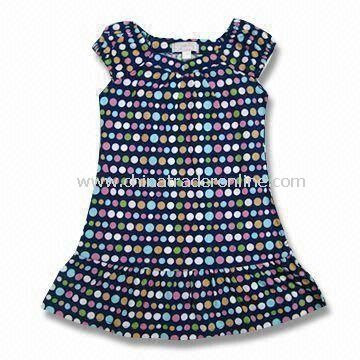 Sleeveless Baby Dress, Measures 76 to 104 and 110 to 150cm, Made of Cotton