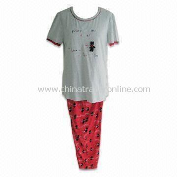 100% Cotton Womens Leisure Home Wear, Customized Designs and Colors are Welcome