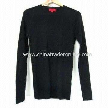 Mens Knitted Sweater, Various Specifications are Available, Made of Wool