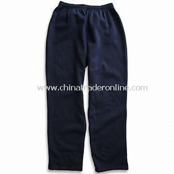 Mens Leisure Pants, Made of Cotton, with Elastic Waistband and Easy to Wear