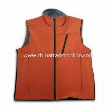 Mens Outdoor Leisure Wear, Made of Polyester, Decorative Stitch and Zipper on the Side
