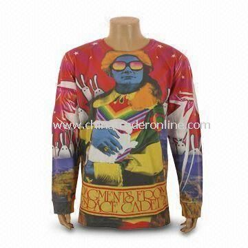 Mens Sweater, Customized Logos are Accepted, Made of 280gsm CVC Material from China