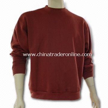 Mens Sweater, Made of 100% Cotton, with Screen Printing