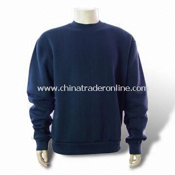 Mens Sweater, Made of 100% Cotton with Screen Printing