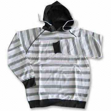 Mens Sweater with Hood, Made of 50% Wool and 50% Acrylic, Various Colors are Available from China