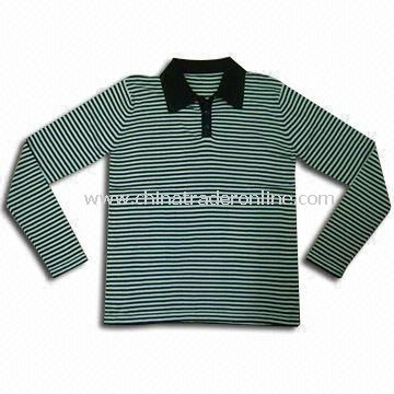 Mens Sweater with Polo Collar, Made of 100% Viscose, Weighs 12gg