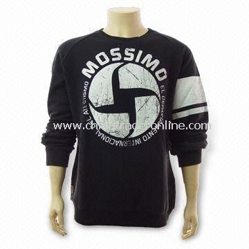 Mens Sweater with Screen Printing, Made of 100% Cotton