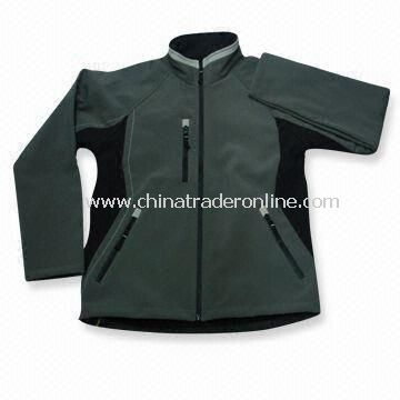 Womens Outdoor Leisure Wear with Elastic String and Waterproof Pocket Zip, Made of Polyester Fabric