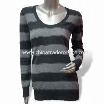12gg Sweater, Made of 80% Lamb Wool, 20% Nylon, Soft and Gentle