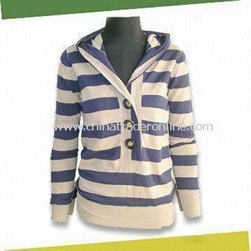 ladies knitted pullover, Made of 55% Wool and 45% Acrylic from China