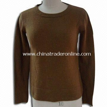 Sweater for Ladies, Made of 80% Lamb Wool and 20% Nylon