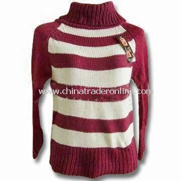 Womens Crewe Neck Cardigans, Made of 65% Viscose, 35% Nylon and Bead Work from China