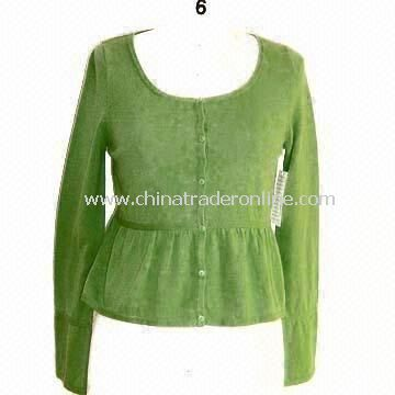 Womens Pullover and Sweater, Made of 100% Cotton from China