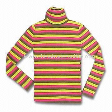 Womens Pullover Made of 84% Cotton, 14% Nylon and 2% Elastane from China