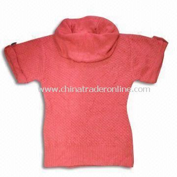 Womens Short Sleeve Sweater, Made of Acrylic, Available in XS to XL Sizes