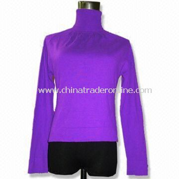Womens Sweater, Made of Viscose, Available in Purple, Weighs 12 to 170gg from China