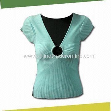 Womens V-neck Knit Wear