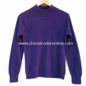 100% Soft Acrylic/Cashmere Ladies Knitted Sweater with Soft Feeling