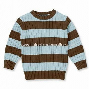 Knitted Baby Sweater, Made of 100% Acrylic and Soft Nice Fabric, OEM Orders are Welcome