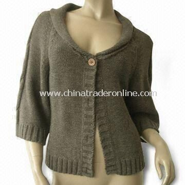 Knitted Sweater, Made of 100% Soft Acrylic, Suitable for Women