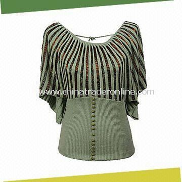 Ladies Cashmere Sweater with Beading, Made of 100% Cashmere
