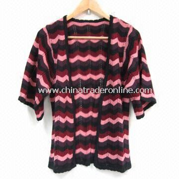 Ladies Knitted Sweater, Made of Acrylic, Fashion Style