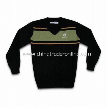 Mens 30% Wool Knitted Golf Sweater with High Quality