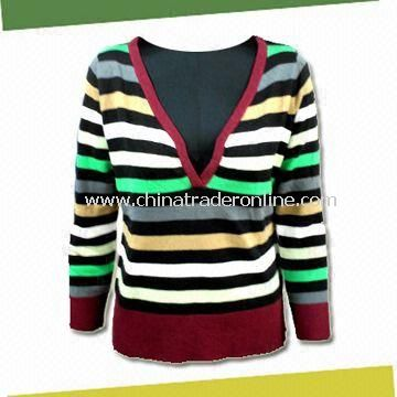 Womens Knitted Sweater with Weight of 168g, Made of 100% Cashmere Like
