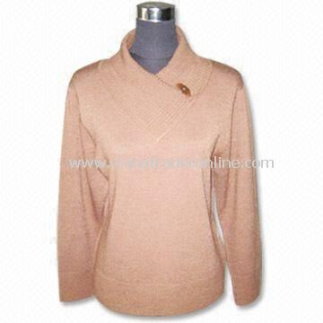 Womens Knitwear, Ladies Knitted Sweater, Made of 97% Acrylic and 3% Spandex