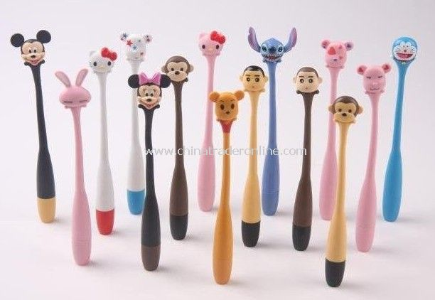 200pcs/lot Bend Wired Pens Cute Lovely Animal Pens Animal Family Ball-Point Pen Animals Bending Pen Gift&Freeshipping