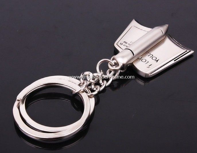 book and pen/couple lover key chain from China