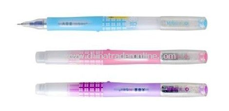 Gel Ink Pen: 12PCS 0.5mm Black Ink Rubber Grip Cartoon
