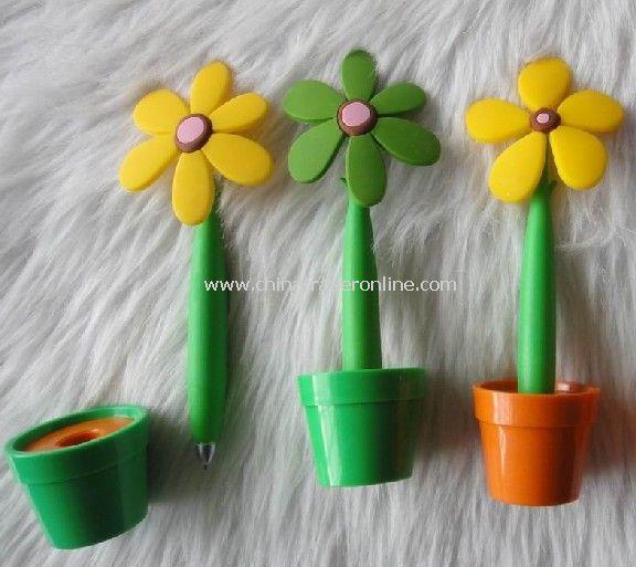 LOGO pen,Flower pen (LOGO printing flower pen ,material :Rubber,length:14cm)