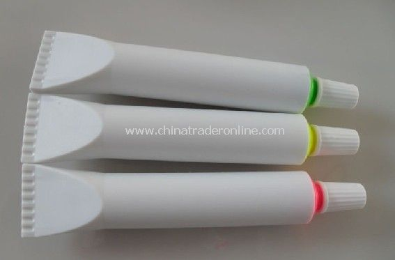 logo printing gift highlighter ,toothpase shape marker,popular as business gift